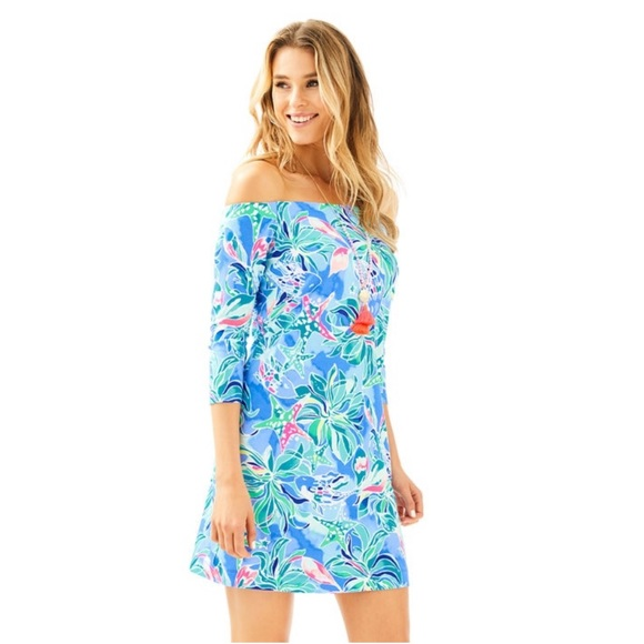 4916674169aa08 NWT Lilly Pulitzer Laurana Off The Shoulder Dress.  M_5d06a0fc19c157e7b9552023